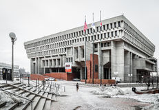Boston City Hall in Winter Stock Images