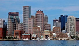 Boston City Harbor Stock Photo
