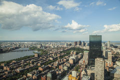 Boston. The city of Boston Massachusetts and the Charles River Stock Photo