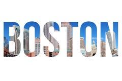 Boston city name Royalty Free Stock Image