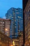 Boston city at night Royalty Free Stock Image