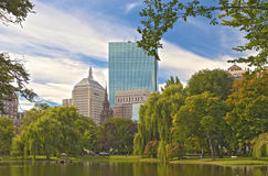 Boston City. Public Garden Stock Photo