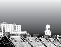 Boston city rooftops Royalty Free Stock Image
