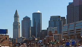 Boston city scenery Royalty Free Stock Images