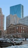 Boston city scenery at winter time Stock Photos
