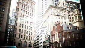 Free Boston City Sky Scrapers In Winter Stock Image - 43240651