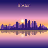 Boston city skyline silhouette background Stock Images