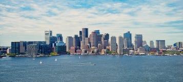 Boston cityscape Arkivbild