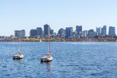 Boston cityscape royalty free stock photography