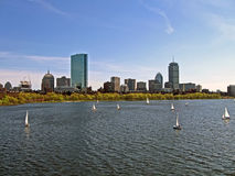 Boston cityscape, usa travel details Royalty Free Stock Images
