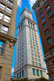 Boston Clock Tower Custom House Massachusetts Royalty Free Stock Image