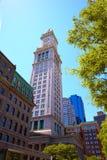 Boston Clock tower Custom House Massachusetts Stock Photo