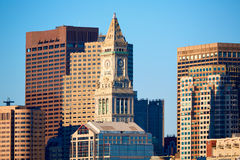 Boston Clock tower Custom House Massachusetts Stock Images
