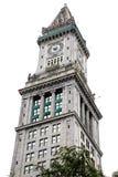 Boston Clocktower aislado en blanco Foto de archivo libre de regalías