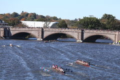 Boston College HS Bottom and Fordham top race for the bridge Stock Photo