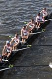 Boston College races in the Head of Charles Regatt Royalty Free Stock Images