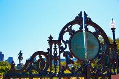 Boston Common Arlington gate George washington Royalty Free Stock Images