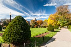 Boston Common in fall Royalty Free Stock Photos