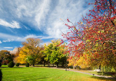 Boston Common in fall Royalty Free Stock Photography