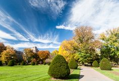 Boston Common in fall Royalty Free Stock Image