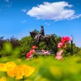 Boston Common George Washington monument Royalty Free Stock Photography