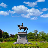 Boston Common George Washington monument Stock Images