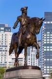 Boston Common George Washington monument Royalty Free Stock Photos