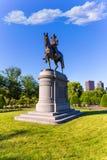 Boston Common George Washington monument Stock Photos