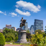 Boston Common George Washington monument Royalty Free Stock Photos