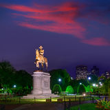 Boston Common George Washington monument Stock Photography
