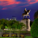 Boston Common George Washington monument Royalty Free Stock Photo