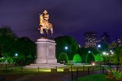Boston Common George Washington monument Royalty Free Stock Image