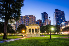 The Boston Common at night in Boston MA Royalty Free Stock Photos