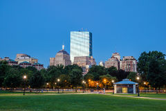 The Boston Common at night in Boston MA Stock Photography
