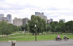 Boston Ma, 30th June: Boston Common Park in Downtown Boston in Massachusettes State of USA Stock Photo
