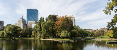 Boston Common Park Panorama Stock Photo