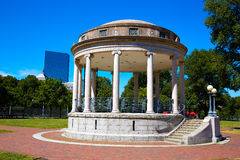 Boston Common Parkman Bandstand Massachusetts. Boston Common Parkman Bandstand in sunlinght at Massachusetts USA Royalty Free Stock Images