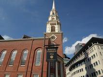 Boston Common Plaque, Boston Common, Boston, Massachusetts, USA Royalty Free Stock Photos
