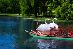 Boston Common public garden Swan boats Stock Image