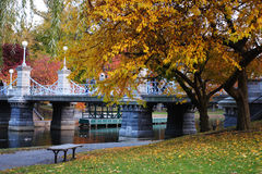 Boston Common and Public Garden, USA Royalty Free Stock Images