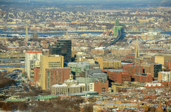 Boston downtown West End in winter, Massachusetts, Stock Image
