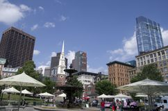 Boston commons summer downtown view stock photo