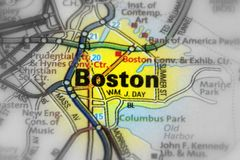 Boston - Commonwealth of Massachusetts in the United States. Boston, the capital city and most of the Commonwealth of Massachusetts in the United States royalty free stock photography