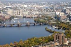 Boston con el río de Charles imagen de archivo libre de regalías