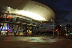Boston Convention Center la nuit Photo stock