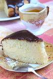 Boston Cream Pie And Green Tea Royalty Free Stock Photos