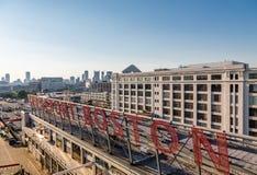 Boston Cruiseport and Skyline Stock Photo