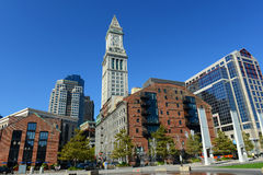 Boston Custom House in Financial District Stock Images