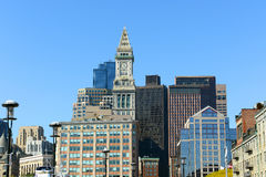 Boston Custom House in Financial District Stock Image