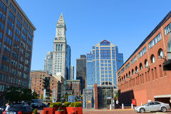 Boston Custom House in Financial District Stock Photos